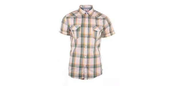 Pánska žlto-zeleno kockovaná košeľa Exe Jeans