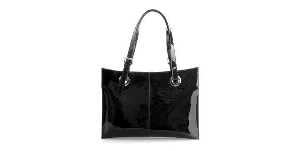 Dámska čierna lakovaná kabelka Belle&Bloom