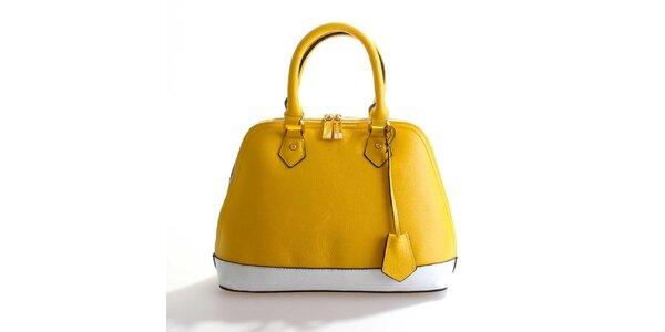 Dámska žlto-biela kožená kabelka Belle&Bloom