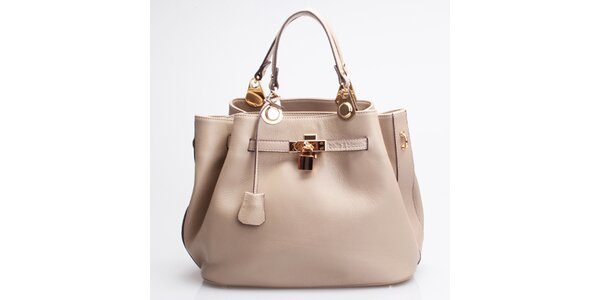Kožená kabelka Belle & Bloom vražnej farbe