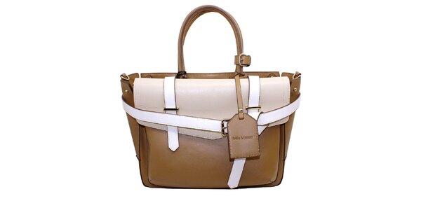 Dámska béžovo-hnedá kabelka s prackami Belle&Bloom