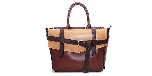 Dámska hnedo-béžová kabelka s prackami Belle&Bloom