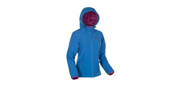 Dámska modrá bunda Envy s ružovými lemami