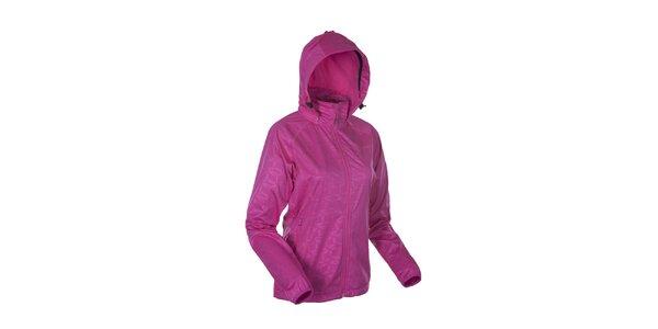 Dámska ružová softshellová bunda so vzorom Envy