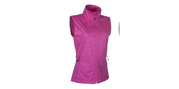 Dámska softshellová ružová vesta so vzorom Envy