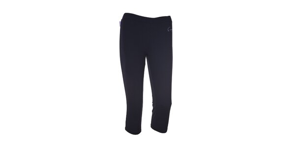 Dámske čierne elastické 3/4 nohavice Envy