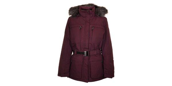 Dámsky tmavo fialový kabát Northland