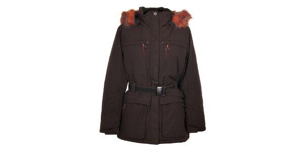 Dámsky tmavo hnedý kabát Northland