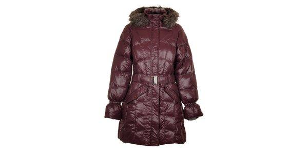 Dámsky tmavo fialový páperový kabát Northland