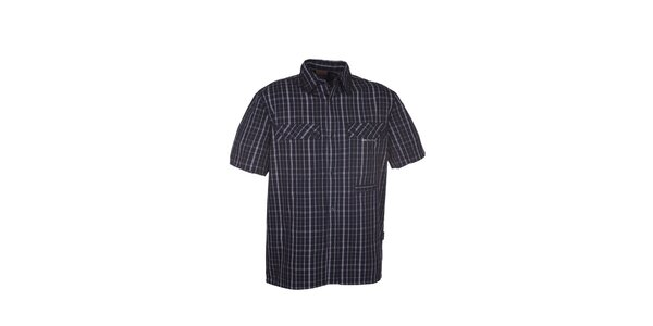 Pánska čierna kockovaná košeľa Envy