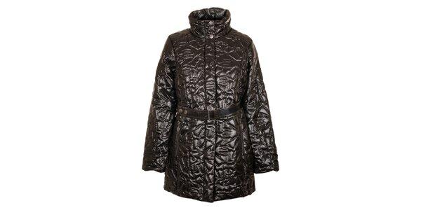 Dámsky tmavo hnedý prešívaný kabát Northland