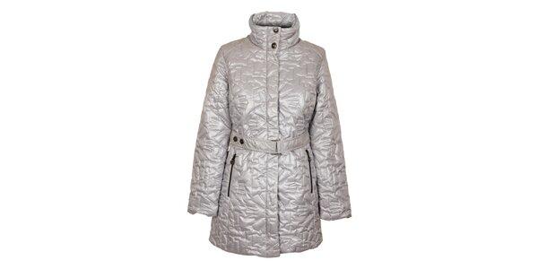 Dámsky strieborný prešívaný kabát Northland
