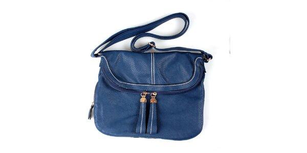 Dámska modrá kabelka London Fashion s nastaviteľným popruhom