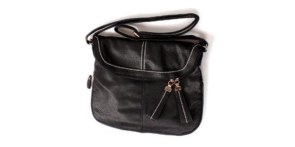 Dámska čierna kabelka London Fashion s nastaviteľným popruhom