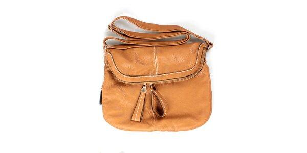 Dámska hnedá kabelka London Fashion s nastaviteľným popruhom