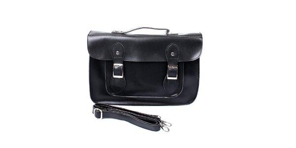 Dámska čierna kabelka s prackami London Fashion