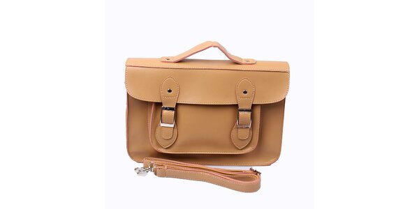 Dámska béžová kabelka s prackami London Fashion