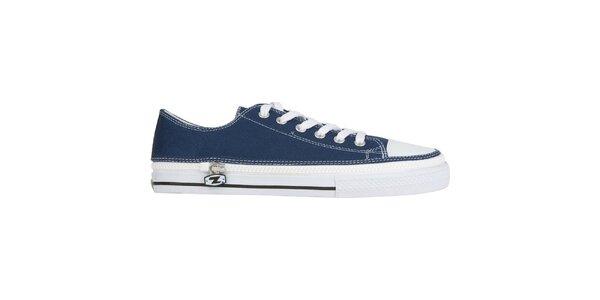 Džínsovo modrej šnurovacie zip-on topánky Zipz