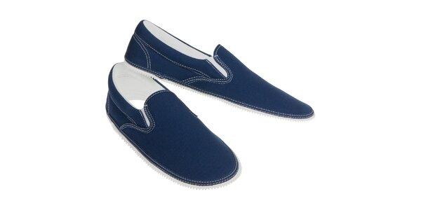 Samostatný vršok v džínsovo modrej farbe Zipz