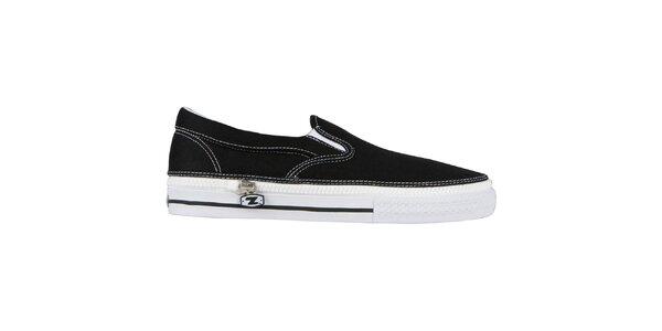 Čierne nazúvacie zip-on topánky Zipz