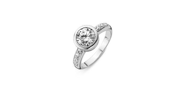 Dámsky strieborný prsteň s priehľadným kamienkom Orphelia
