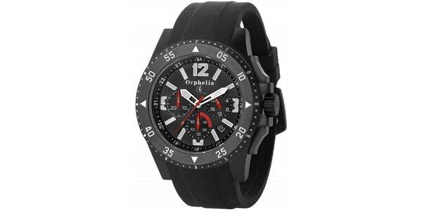 Pánske športovo-elegantné oceľové hodinky čierne Orphelia