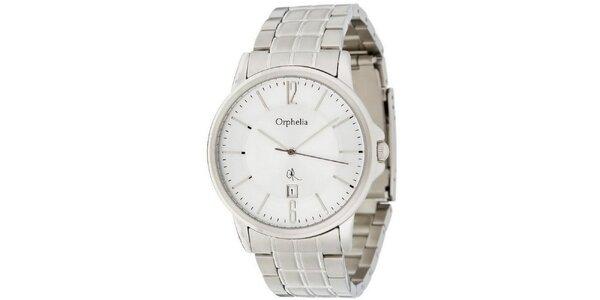 Pánske oceľové hodinky s bielym ciferníkom Orphelia