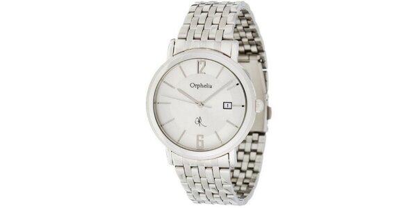 Pánske oceľové hodinky Orphelia s bielym ciferníkom