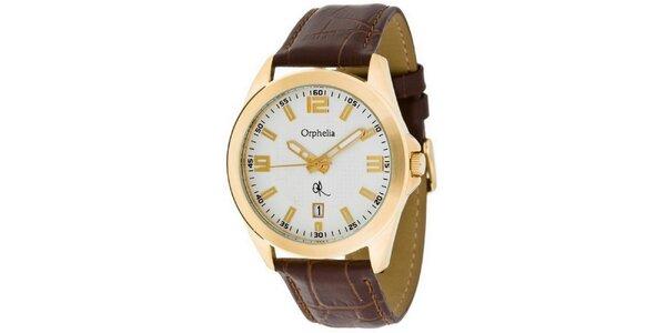 Pánske oceľové hodinky Orphelia v zlatej farbe