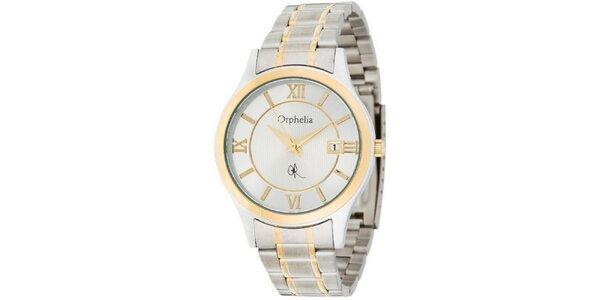 Pánske oceľové hodinky Orphelia v zlato-striebornej farbe