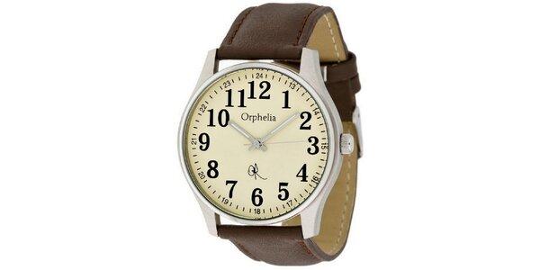 Pánske retro hodinky s veľkými číslicami Orphelia