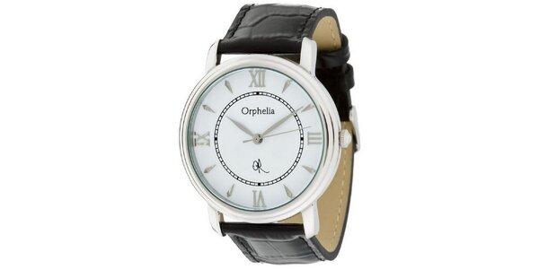 Pánske oceľové hodinky Orphelia s koženým remienkom