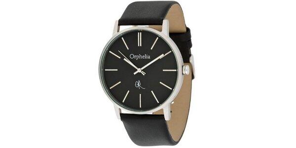 Pánske oceľové hodinky Orphelia s čiernym ciferníkom
