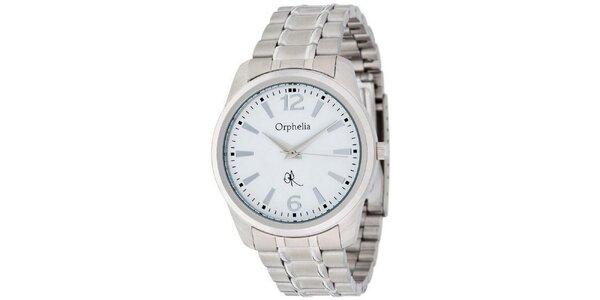 Pánske hodinky Orphelia s bielym ciferníkom a kovovým remienkom