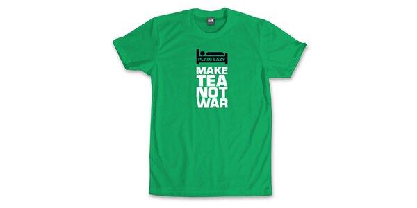 Pánske výrazne zelené tričko Plain Lazy