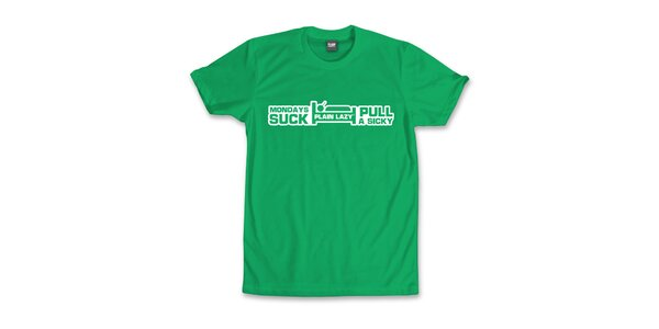 Pánske zelené tričko Plain Lazy