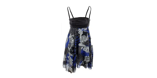 Dámske čierno-modré šaty na ramienka Angels Never Die