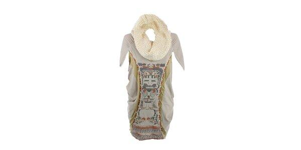 Dámske zelené šaty s aztéckym vzorom a odnímateľným rolákom Angels Never Die