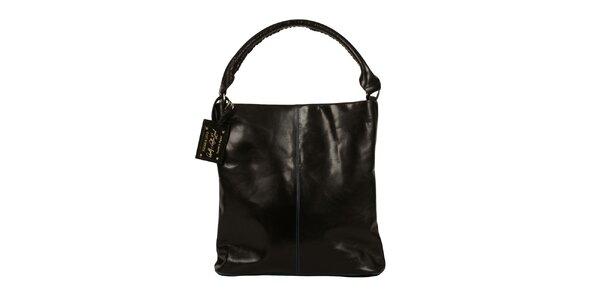 Dámska čierna kožená kabelka Forbes&Lewis