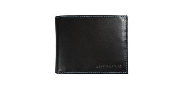 Pánska čierna kožená peňaženka Forbes&Lewis