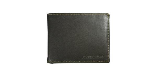 Pánska šedá kožená peňaženka Forbes&Lewis