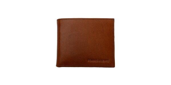 Pánska hnedá kožená peňaženka Forbes&Lewis