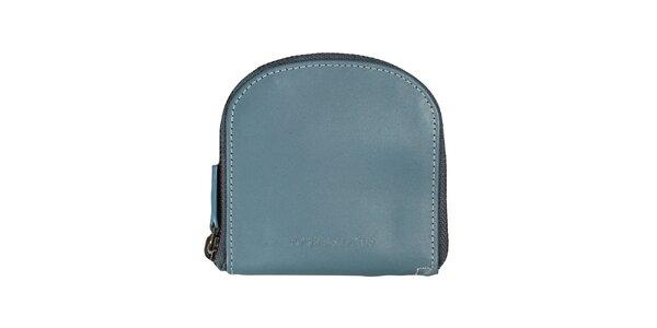 Dámska modrá peňaženka s bielym prešívaním Forbes&Lewis