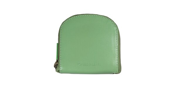 Dámska hrášková peňaženka s bielym prešívaním Forbes&Lewis
