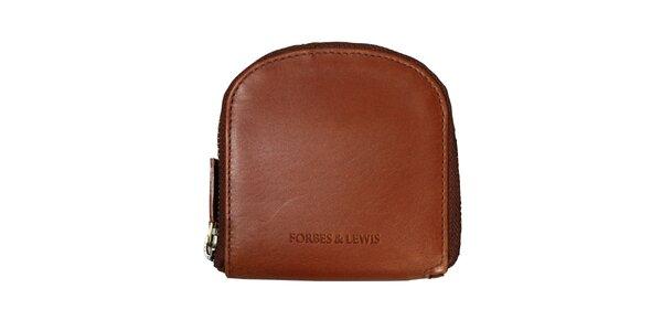 Dámska hnedá kožená peňaženka Forbes&Lewis