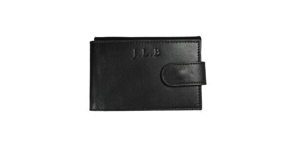 Pánska čierna kožená peňaženka Forbes&Lewis s cvočkom