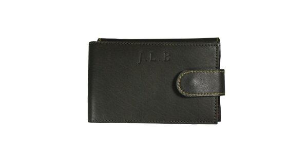 Pánska šedá kožená peňaženka Forbes&Lewis s cvočkom