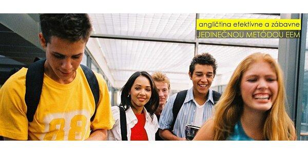 Mesačný konverzačný kurz ANGLIČTINY metódou EEM pre začiatočníkov