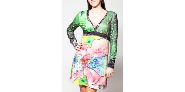 Dámske šaty Culito from Spain s véčkovým výstrihom