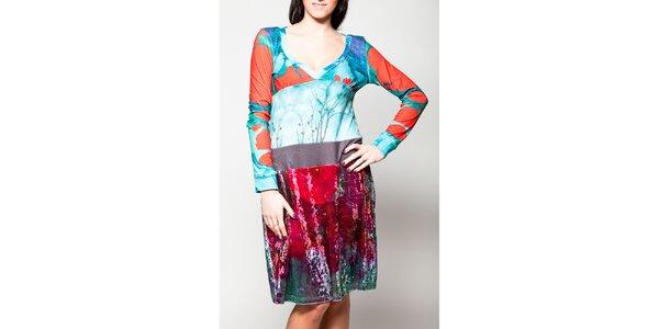 Dámske šaty so sametovou sukňou Culito from Spain